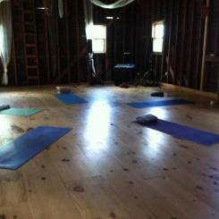 Yoga in the barn. Art of Living Wild, summer 2016